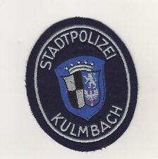 Uniform Aufnäher Patches Stadtpolizei Polizei Kulmbach Oberfranken