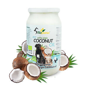 Extra Virgin Pets Coconut Oil For Dogs and Cats 1000ml Biopurus