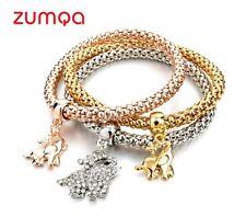 Crystal Elephant Pendant Bracelets by ZUMQA