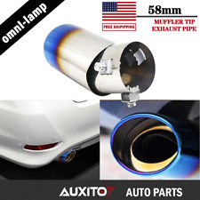 Burnt Blue Car Muffler Tip Exhaust Pipe Tail Universal Adjustable For Pickup EOE