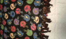 "Multicolor Football Helmets  ... Tie Blanket 72"" x 60"""