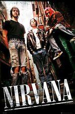 Nirvana ~ Alley Trio 24x36 Music Poster Rock Kurt Cobain Dave Grohl Novoselic