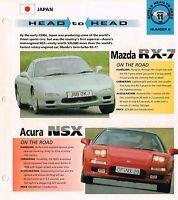 Mazda RX-7 vs. Acura NSX Road Test Brochure