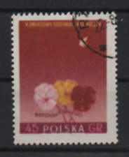 Polonia 1955 MINR. 924a internationales Festival de la juventud, con sello