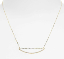 NADRI Swing Womens Gold Curved Pendant Necklace 0256