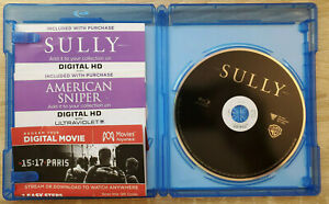 3 CODE FOR CLINT EASTWOOD's Sully+American Sniper+15:17 To Paris w Sully Blu-ray