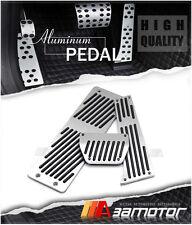 A/T ALUMINUM Gas Brake Footrest Pedal Set for BMW E34 E36 E38 E65 X3 X5 Z3 LHD
