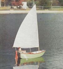 "1/3 Scale Pram Dinghy Sailboat Model Boat Ship Plans,Templates, Instructions 31"""