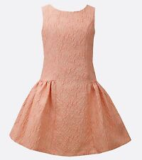 USA Special Occasion Birthday Girls Dress Coral Gold size 8,10,12,