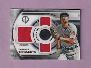2019 TOPPS TRIBUTE XANDER BOGAERTS  TRIPLE JERSEY CARD - #/150 - BOSTON RED SOX