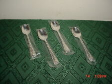 "4-PIECE WM ROGERS AND SONS ""SILVER PLATE"" 6 "" TEA SPOONS/NEW/STAMPED/CLEARANCE!"