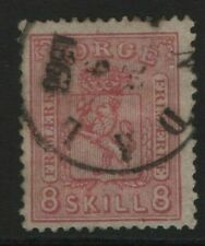 Norway Stamps 1867 SG30 8sk Pink  Cat £500.00    Fine Used
