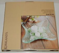 Kirkland's Star Bowl Hammered Glass Serving Decorative Bowl New In Box 107319
