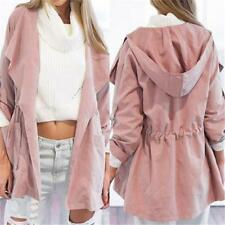 Windbreaker Women Warm Hooded parka Jacket Long Coat Trench Outwear Fashion JJ