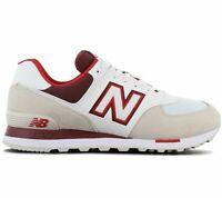 New Balance ML 574 NLA Herren Sneaker Beige-Weiß-Rot Freizeit Sport Schuhe NEU