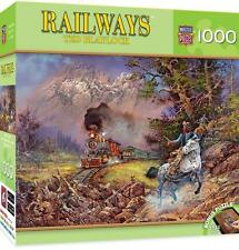 MASTERPIECES RAILWAYS PUZZLE HOLD UP ON #9 TED BLAYLOCK 1000 PCS TRAINS # 71652