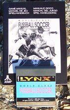 World Class Fussball/Soccer Lynx Atari Collectors!! Rare New No Box with Manual