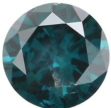 Natural Loose Diamond Round  I2 Clarity Blue Color 4.22 MM 0.30 Ct KR183