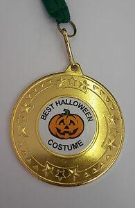 Halloween Medal Best Halloween costume Winner.Metal medal + ribbon Pumpkin Pic