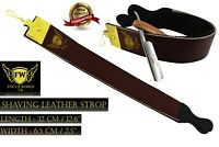 LEATHER SHARPENING STROP STRAP BELT FOR STRAIGHT CUT THROAT SHAVING RAZOR FW®