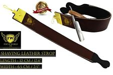 FW®- LEATHER SHARPENING STROP STRAP BELT FOR STRAIGHT CUT THROAT SHAVING RAZOR