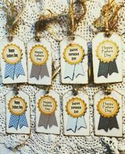 Set of 8 Hang Tags~Happy Fathers Day~Gift Tags~Party Tags~Card's~Scrapbook~#330R