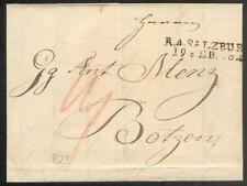 ÖSTERREICH 1823 VORPHILABRIEF von SALZBURG nach BOTZEN (D0832