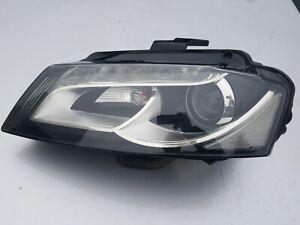 AUDI A3 8P 2008-2012 FRONT LEFT BI-XENON LED HEADLIGHT BIXENON RHD 8P0941003AN