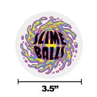 "Slime Balls Santa Cruz OG Logo Skateboard Sticker Decal 3.5"" Round New"