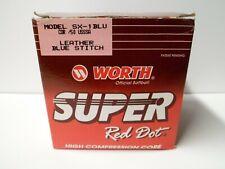 Vintage Worth Super Red Dot Blue Stitch Softball Sx-1 - New Old Stock