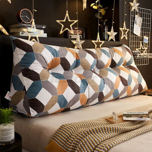 "47x9x20"" Triangular Wedge Lumbar Pillow Cushion Backrest Bolster So"