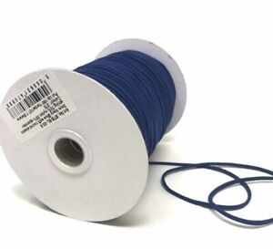 3mm x 5mtr Navy Blue Soft Round Elastic - Ideal for facemasks - Nice and soft