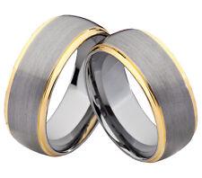 Eheringe Trauringe Partnerringe Ringe aus hartem Wolfram mit Lasergravur W770