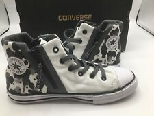 Converse Youth Size 5Y All Star Sport Zip Hi Sneakers Rare Black/White Pattern