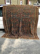Antique 19th century Soumak rug 83 by 92 inches
