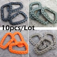 10pcs ITW Tactical Outdoor Carabiners Hook D Buckle Military Hiking Accessories