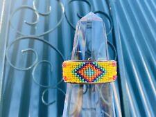 Vintage Indian Beaded Cuff Bracelet