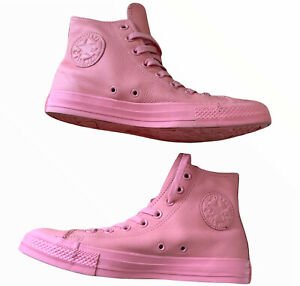 Unisex Rare Converse Chuck Taylor All Star Triple Pink Candy Leather Uk6.5 (3