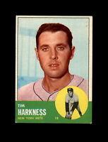1963 Topps Baseball #436 Tim Harkness (Mets) EXMT