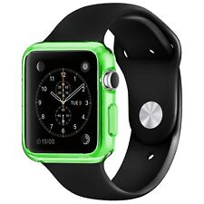 Coque Housse Pour Apple Watch 38mm Semi Rigide Gel Clear Frame Extra Fine Vert