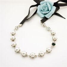 Fashion Charm Pearl Rhinestone Jewelry Chain Pendant Choker Chunky & Headband
