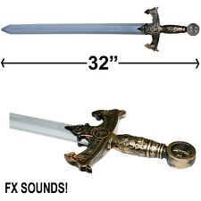 """DRAGON MEDIEVAL KNIGHT TEMPLAR SWORD CRUSADER COSPLAY COSTUME ACCESSORY TOY 32"""""""