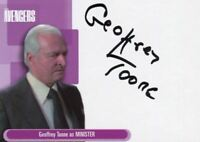 Avengers TV Definitive 1 Geoffrey Toone as Minister Binder Autograph Card A12