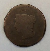 1842 US Coronet LIBERTY Head Large Penny One Cent Coin Circulated US Currency