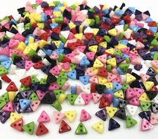 NEW 200X Mixed Colors triangle Resin Buttons 2 holes sewing scrapbooking crafts