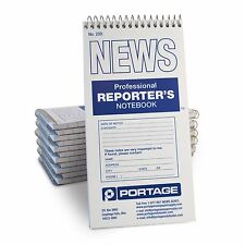 "Portage 200 Reporter's Notebook Gregg Ruled,  4""x8"", 70 Sheets  (12 Pack)"