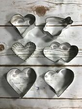 Heart Shaped Metal Cookie Cutter 6 Styles Size Bakeware Kitchen Cake Decorating