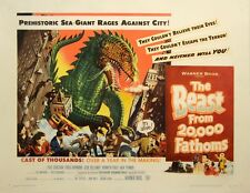BEAST FROM 20,000 FATHOMS, THE (1953) Half sheet poster / Spectacular artwork