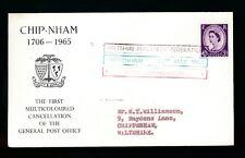 PHILATELIC CONVENTION 1965 WILTSHIRE...MULTI COLOUR POSTMARK CHIPPENHAM