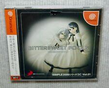 "NEW MINT SEGA DREAMCAST Japanese Import Game """"SIMPLE 2000 BITTERSWEET FOOLS"""